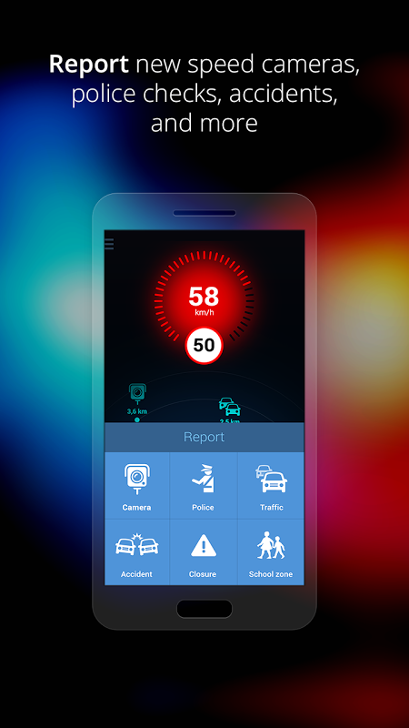 Speed Cameras & Traffic Sygic 3.9 Screen 1